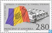 Postage Stamps - Andorra - French - Accession to the Council of Europe