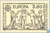 Timbres-poste - Andorre - Poste française - Europe – Jeux d'enfants