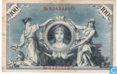 Bankbiljetten - Reichsbanknote - Duitsland 100 Mark  (P33a)