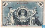 Billets de banque - Reichsbanknote - Mark Allemagne 100