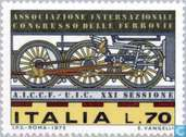 Postage Stamps - Italy [ITA] - Congress railways