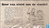 Strips - Bommel en Tom Poes - Heer van stand aan de wandel