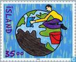 Postage Stamps - Iceland - Drawing Competition