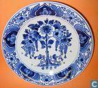 Keramik - Delfter Blau - Zonnebloem met Hek