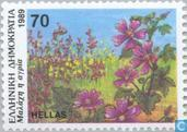 Postzegels - Griekenland - Bloemen