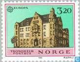 Timbres-poste - Norvège - Europe – Bâtiments postaux
