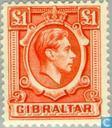 Postzegels - Gibraltar - George VI- Landschappen