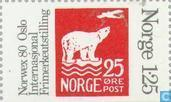 Timbres-poste - Norvège - 125 gris / rouge