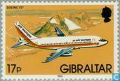 Timbres-poste - Gibraltar - Avions et hydravions