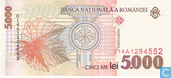 Billets de banque - Roumanie - 1996-2000 Paper Issue - Roumanie 5.000 Lei 1998
