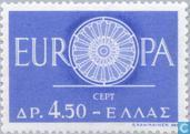 Postage Stamps - Greece - Europe – Spoked Wheel