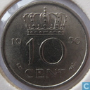 Coins - the Netherlands - Netherlands 10 cents 1956