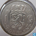 Coins - the Netherlands - Netherlands 1 gulden 1963