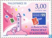 Postzegels - Andorra - Frans - Postzegeltentoonstelling Philexfrance