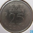 Coins - the Netherlands - Netherlands 25 cents 1950