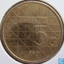 Coins - the Netherlands - Netherlands 5 gulden 1990