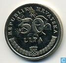 Monnaies - Croatie - Croatie 50 lipa 1995