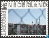 The Bibby Stockholm prison boat in Rotterdam