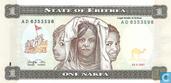 Banknotes - Eritrea - 1997 Issue - Eritrea 1 Nakfa 1997