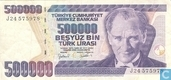 Turkey 500,000 Lira ND (1998/L1970) P212a1