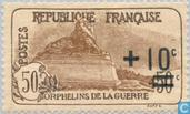 Postage Stamps - France [FRA] - War Orphans, with overprint