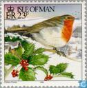 Postage Stamps - Man - Winter Scenes - Christmas Robin
