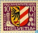 Postzegels - Zwitserland [CHE] - Heraldische wapens