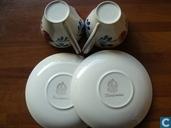 Céramique - Décor rustique - Boerenbont kop en schotel setjes