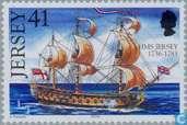 Briefmarken - Jersey - Schiffe mit dem Namen Jersey