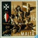 Timbres-poste - Malte - Libération grand siège 400 années