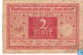Bankbiljetten - Darlehnskassenschein - Duitsland 2 Mark