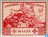 Postage Stamps - Malta - 75 years of UPU