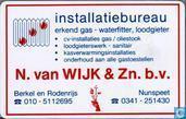 Installatiebureau N. van Wijk & Zn.