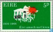 Postzegels - Ierland - Pinksteropstand 1916-1966
