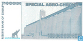 Billets de banque - Reserve Bank of Zimbabwe - Zimbabwe 100 milliards de dollars