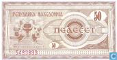 Banknoten  - Narodna Banka na Makedonija - Mazedonien 50 Denari