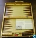 Spellen - Backgammon - Backgammon in houten koffer