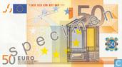 Banknotes - Eurozone - 2002 Dated 'Signature J.C. Trichet' Issue - Eurozone 50 Euro (Specimen)