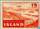 Postage Stamps - Iceland - 15 Red