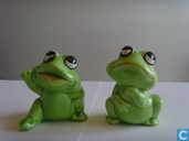 Frogs salt and pepper set