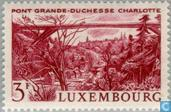 Postage Stamps - Luxembourg - Grand Duchess Charlotte Bridge
