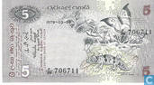 Bankbiljetten - Central Bank of Ceylon - Sri Lanka 5 Rupees