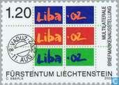 Postzegels - Liechtenstein - Postzegeltentoonstelling LIBA '02 - Vaduz