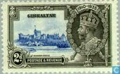 Postage Stamps - Gibraltar - King Geog V Jubilee 1910-1935