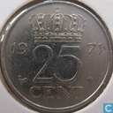 Coins - the Netherlands - Netherlands 25 cents 1971