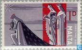 Postzegels - Malta - De Drie Wijzen uit het Oosten