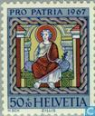 Postage Stamps - Switzerland [CHE] - Church Paintings