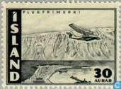 Postzegels - IJsland - 30 zwart