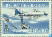 Briefmarken - Belgien [BEL] - Fallschirmspringen