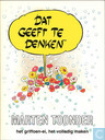 Comic Books - Bumble and Tom Puss - Dat geeft te denken